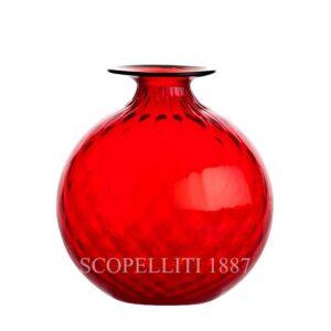 Vasi in vetro di Venini rosso