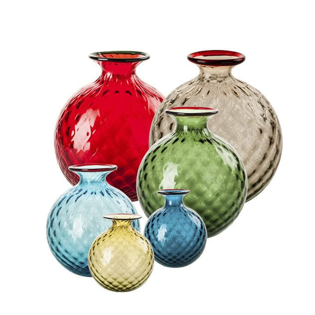 colorful murano vases
