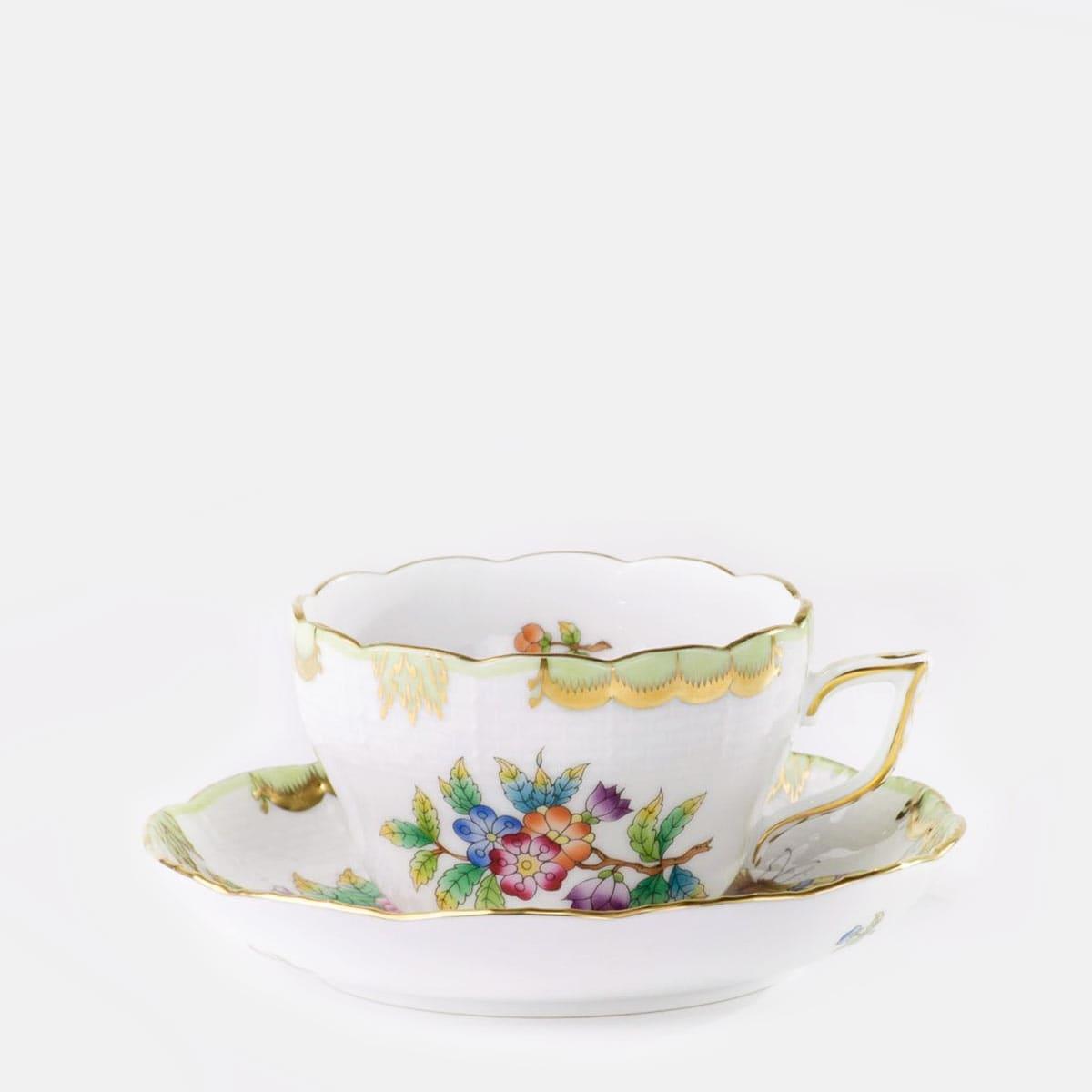 herend decoro victoria fiori e farfalle porcellana ungherese handpainted