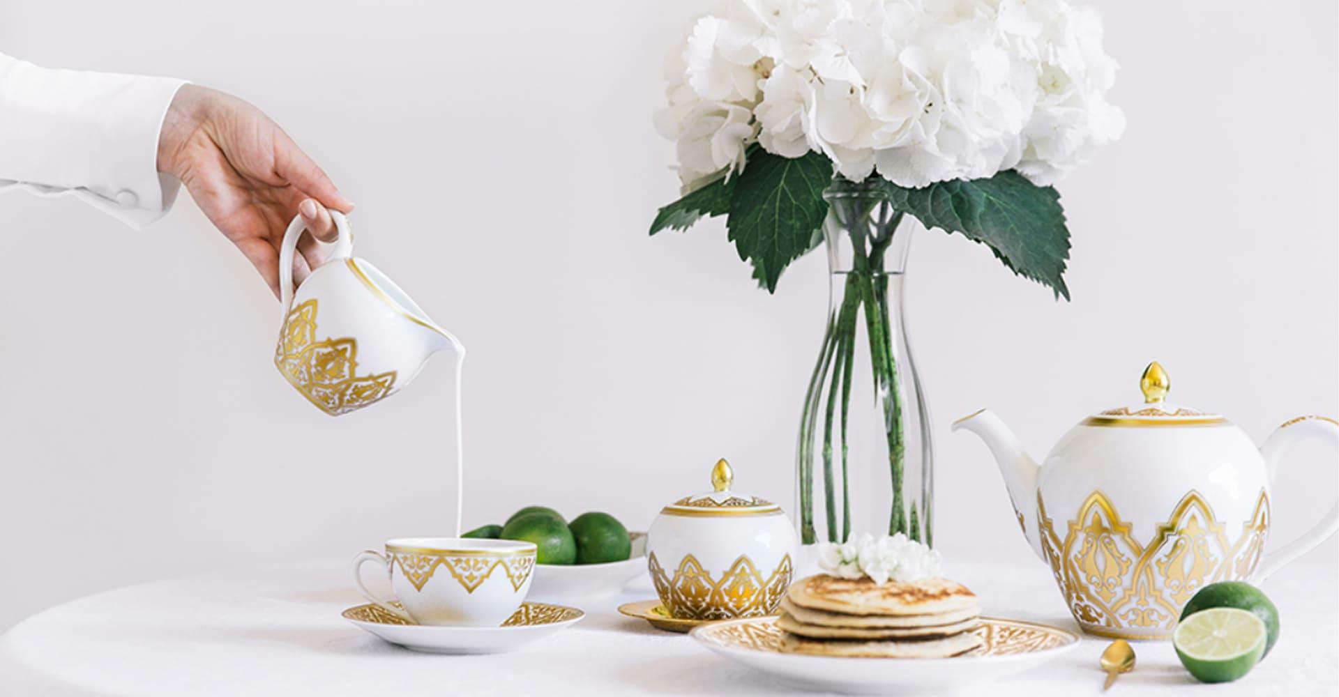 Servizio di piatti in porcellana di Limoges Bernardaud
