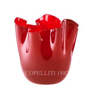 fazzoletto rosso di venini vetro di murano ordina online