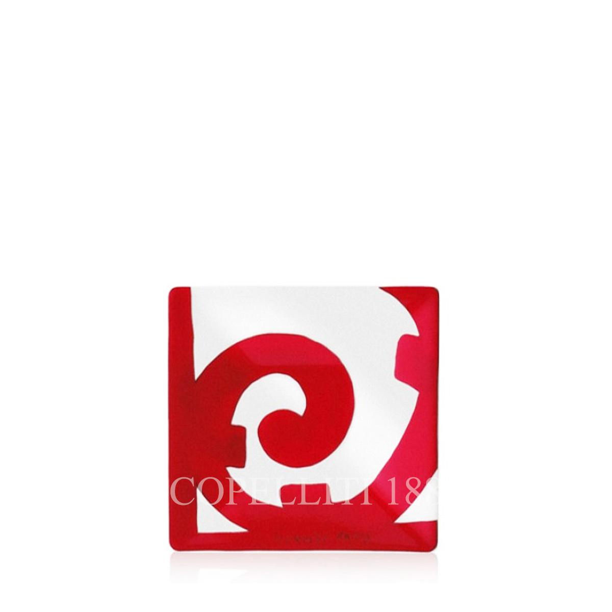 bomboniera hermes piattino rosso bianco elegante