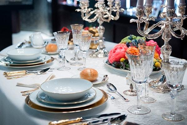 tavola importante ricevimento servizi tavola servizi bicchieri cristallo