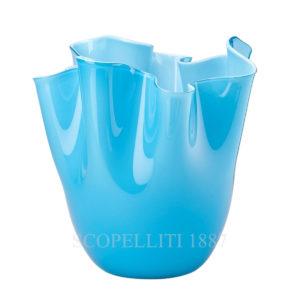 venini fazzoletto vaso murano azzurro