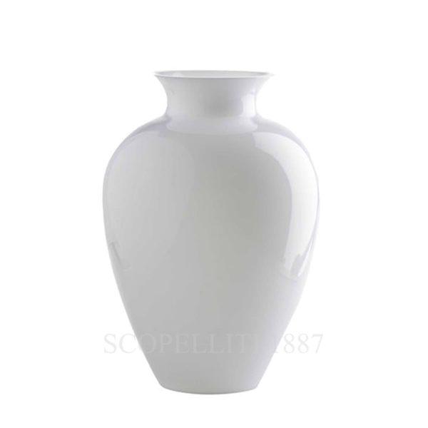 Vaso bianco di vetro di Venini