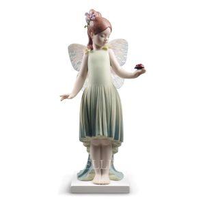 bambina farfalla statua dell'anno 2018 lladro