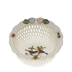 herend small basket birds