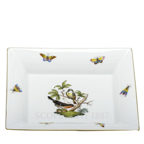 herend vide poche birds rectangular tray