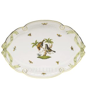herend oval tray birds
