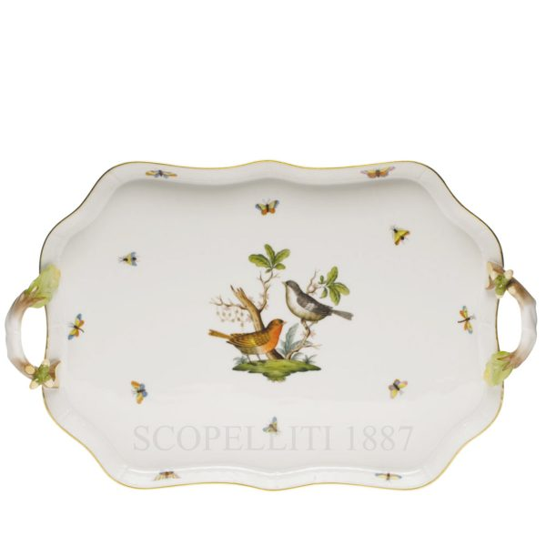 herend tray birds porcelain