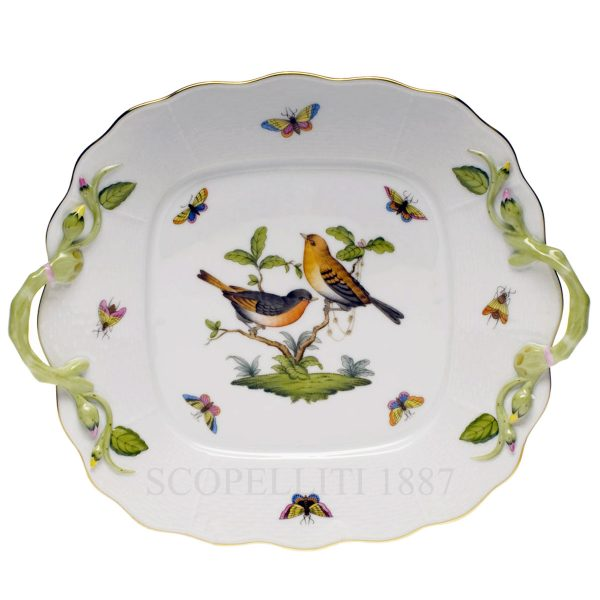 herend square cake tray rothschild