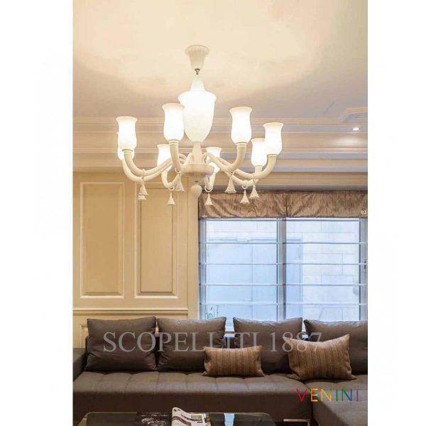 torelli di venini lampadario bianco