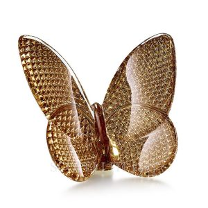 Crystal Golden Lucky Butterfly By Baccarat - Scopelliti 1887