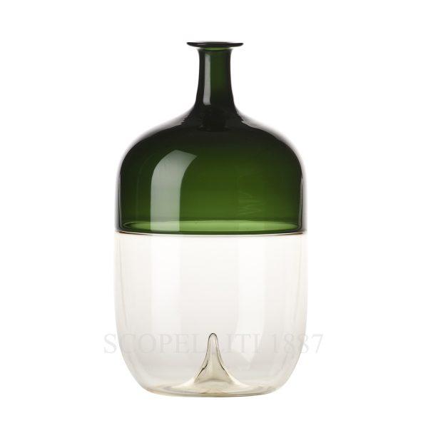 bottiglia venini verde vetro di murano