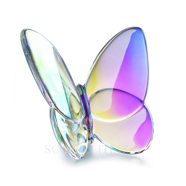 farfalla baccarat trasparente iridescente