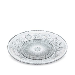 Crystal Arabesque Small Dessert Plate By Baccarat - Scopelliti 1887