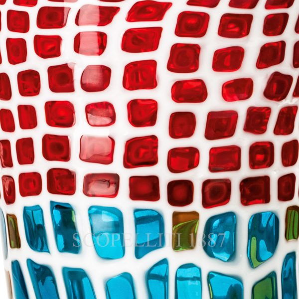 venini murrine color glass vase limited edition