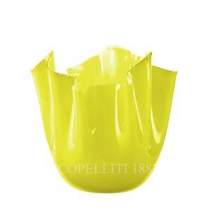 venini fazzoletto giallo verde