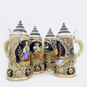 boccali birra porcellana edizione limitata con disegni di quattro stagioni