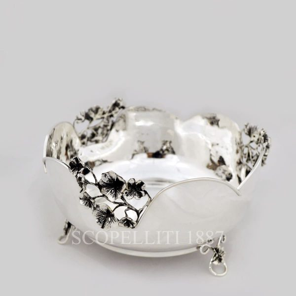 centrotavola argento fusione quadrifoglio