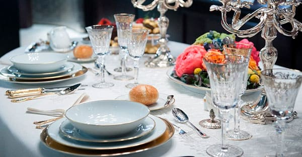elegant luxury tableware