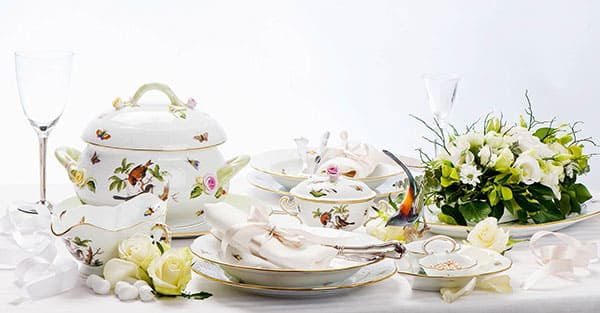 herend rothschild luxury tableware