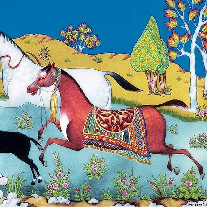 porcellana cheval d orient cavalli hermes