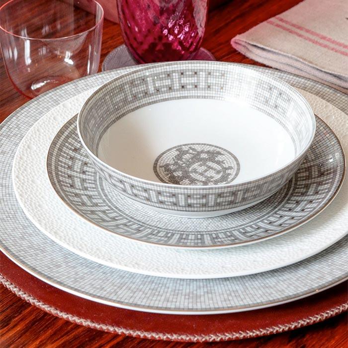 servizio piatti in porcellana di hermes decoro mosaique
