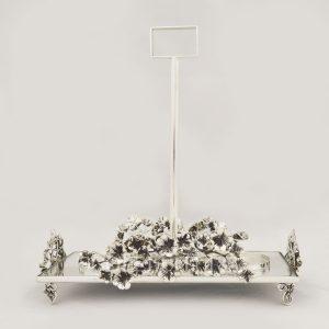 portabicchieri in argento fusione fiori