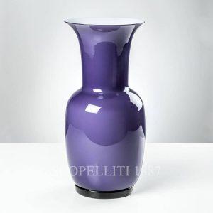 opalino venini vaso indaco grande