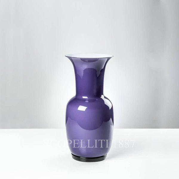 opalino venini vaso indaco piccolo