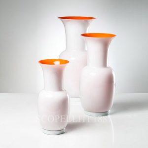 vasi venini opalino colori nuovi bianco arancio