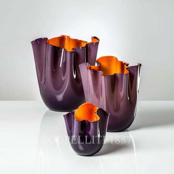 vasi venini fazzoletto opalino colori nuovi indaco