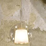glo di penta light lampada sospensione trasparente grande