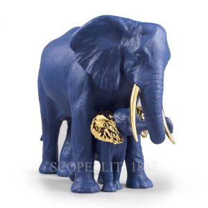 statua lladro edizione limitata elefanti blu