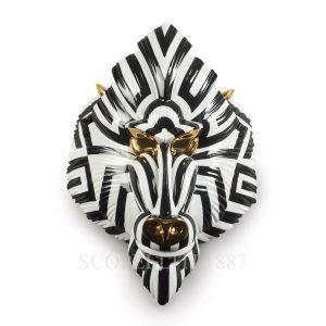 maschera mandrillo da muro in porcellana lladro