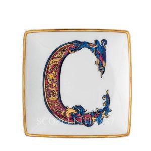 versace alfabeto piattino bomboniera in porcellana