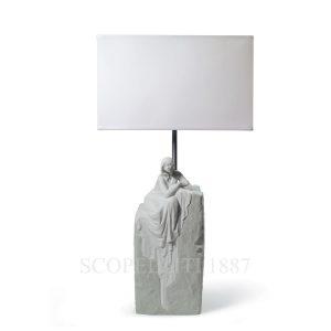 lampada lladro porcellana bianca