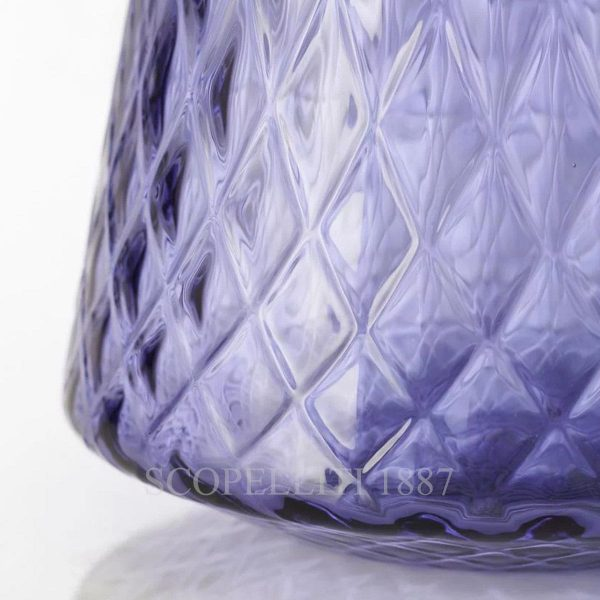 venini tiara vaso indaco