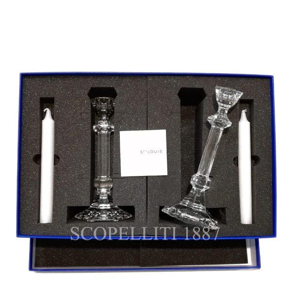 coppia candelieri saint louis scatola regalo