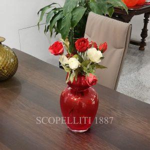 vaso rosso natalizio