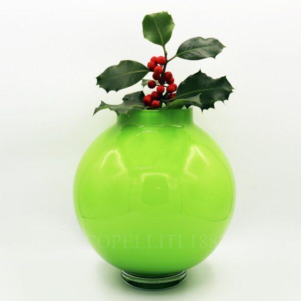 vaso verde cristallo