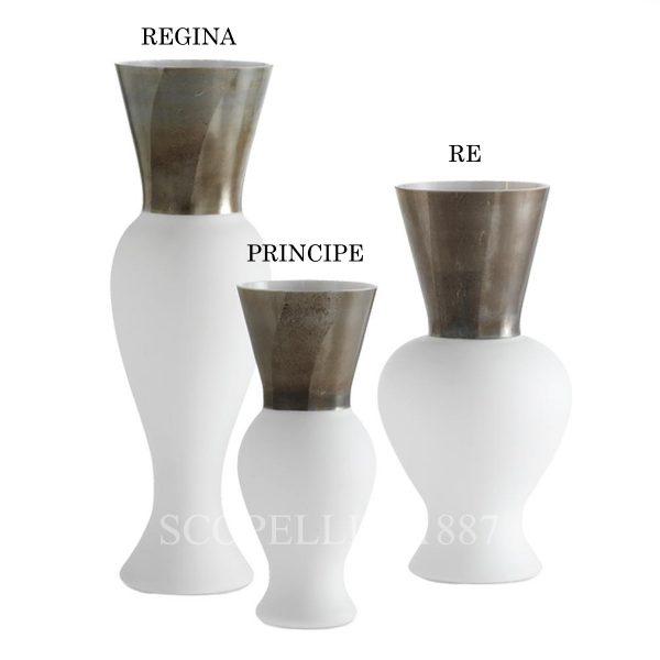 venini vaso bianco regina re principe