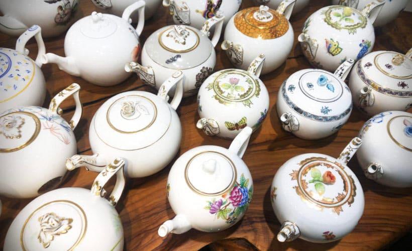herend teiere vari decori degustazione