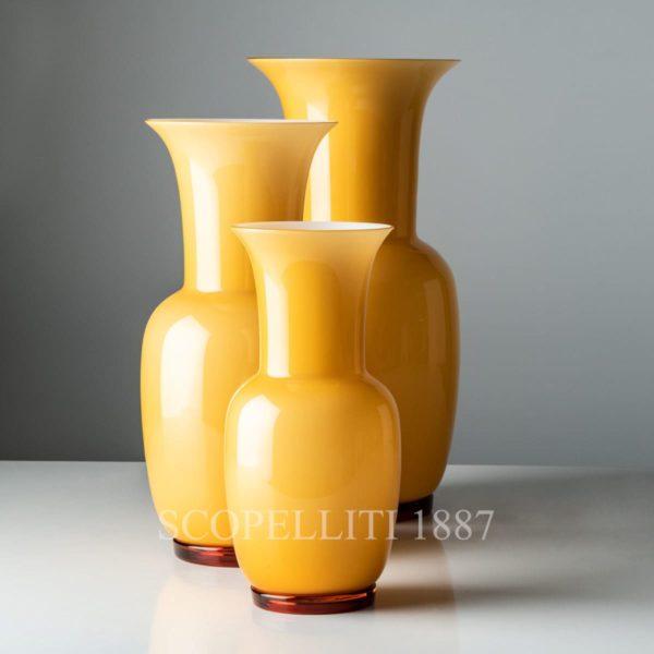 venini vaso opalino nuovo colore ambra