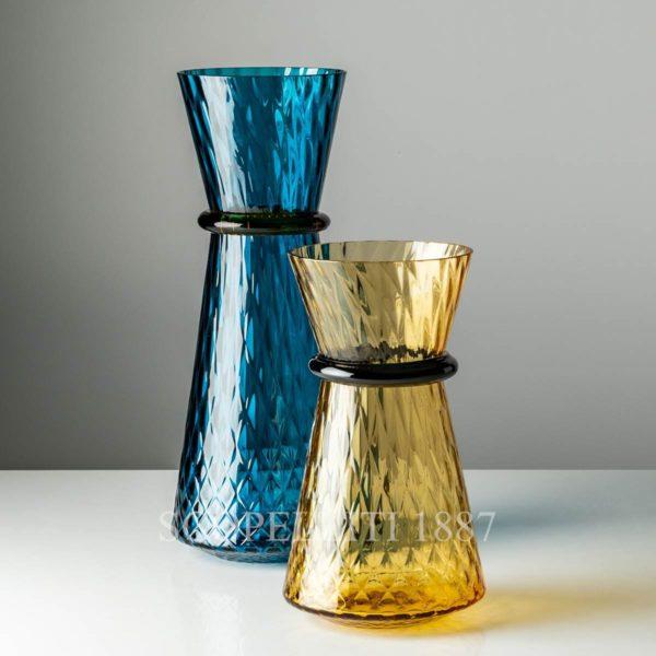 venini tiara vaso ambra