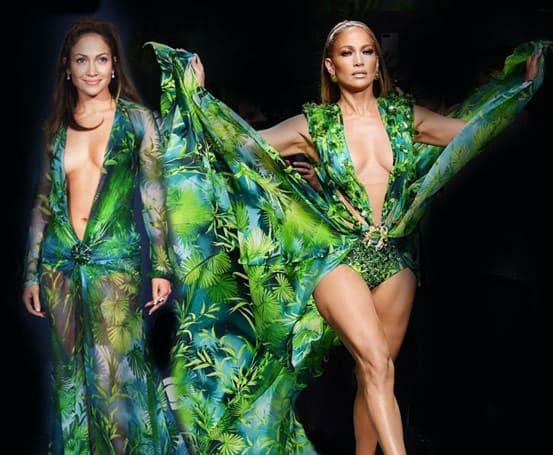 vestito versace jungle di jennifer lopez
