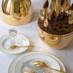 uovo mood christofle posate oro