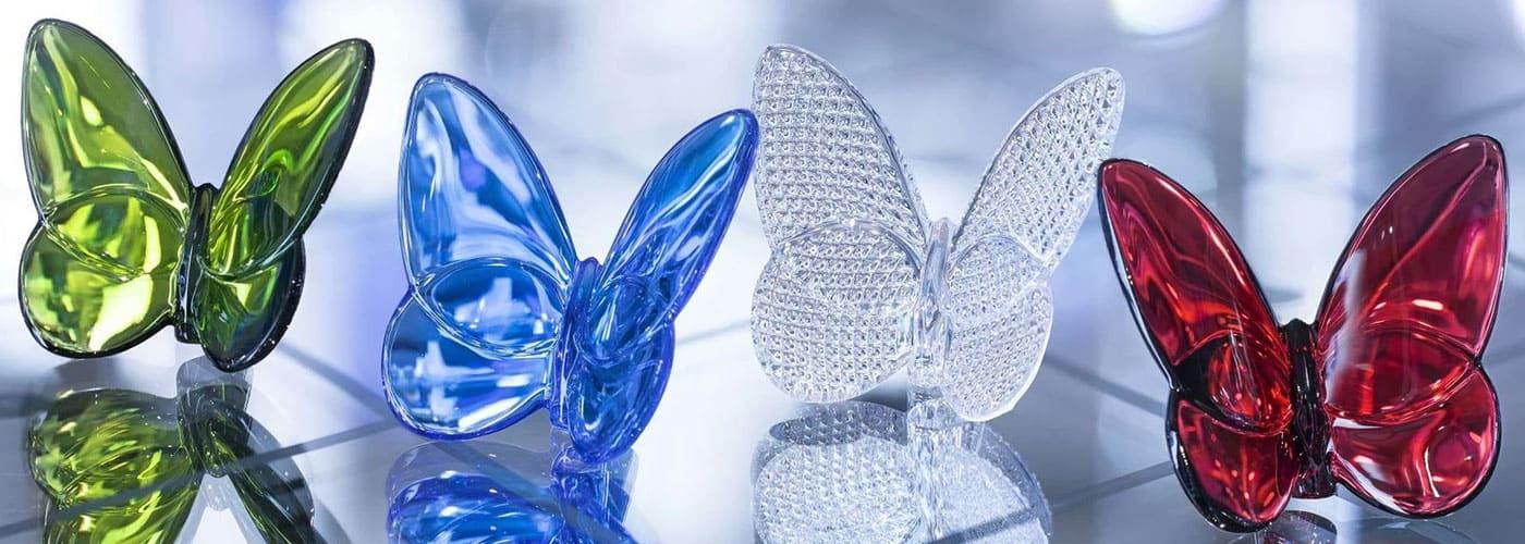 farfalle in cristallo baccarat