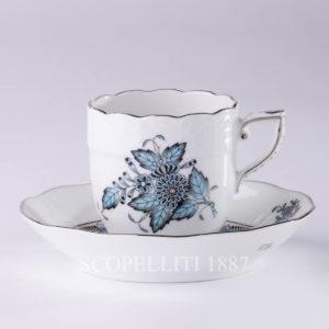 herend apponyi turchese tazza caffè